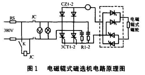 电磁辊式磁选机电路原理图